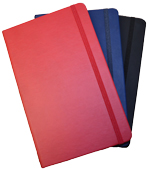 black, navy blue and red blank hardcover journals