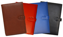 leather journals with belt and loop closures